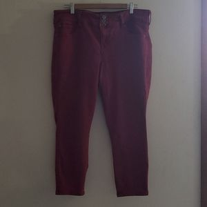 Torrid cropped jeans size 18